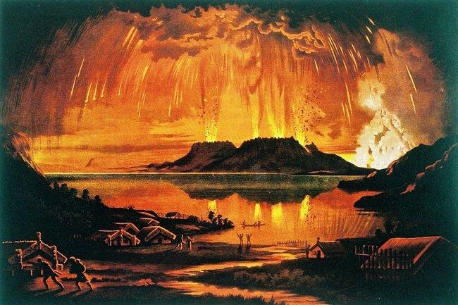Mount Tarawera eruption