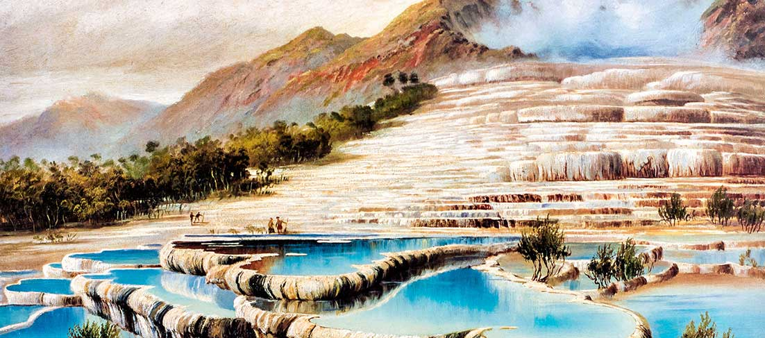 The famous Pink and White terraces