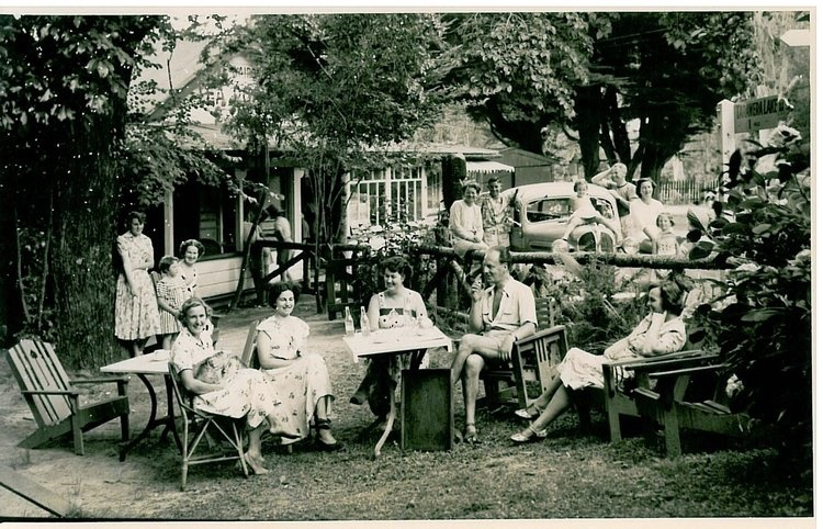 Vi's tea house in 1910 at the buried village